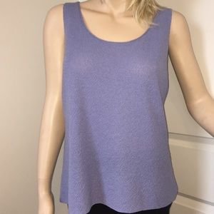 Eileen Fisher M Lilac Knit Sleeveless Top/ Tank